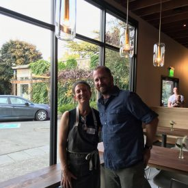 Leslie Mackie and Alex Maughan at Macrina Bakery